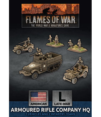Flames of War Armoured Rifle Company HQ (Plastic)