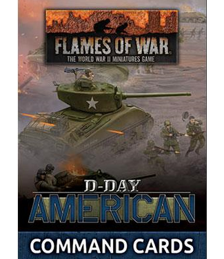 Flames of War D-Day: American Command Cards