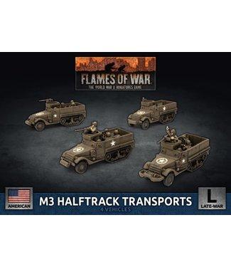 Flames of War M3 Halftrack Transport Platoon (Plastic)