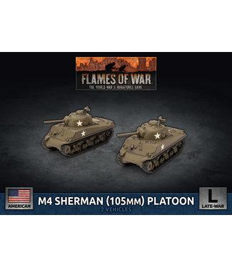 Flames of War M4 Sherman (105mm) Assault Gun Platoon (Plastic)