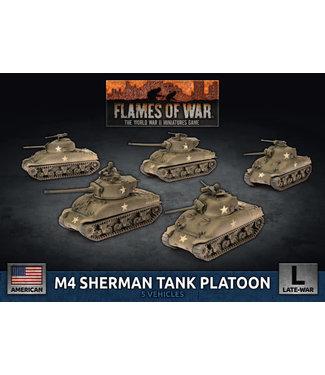 Flames of War M4 Sherman Tank Platoon 75mm/76mm (Plastic)
