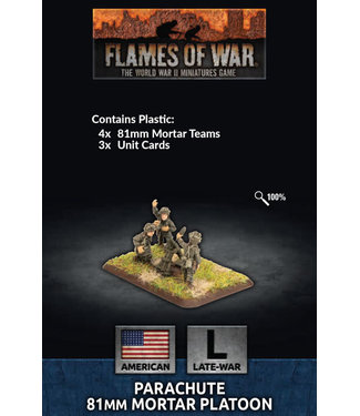 Flames of War Parachute 81mm Mortar Platoon (Plastic)