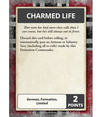 Flames of War Iron Cross Command Cards