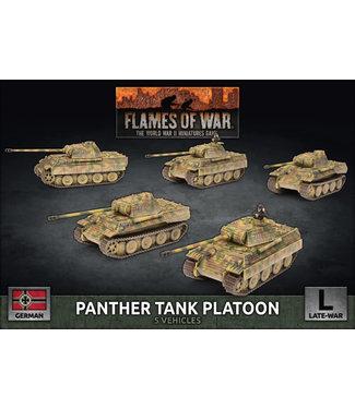 Flames of War Panther Tank Platoon (plastic)