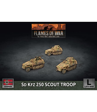 Flames of War Sd Kfz 250 Scout Troop (Plastic)