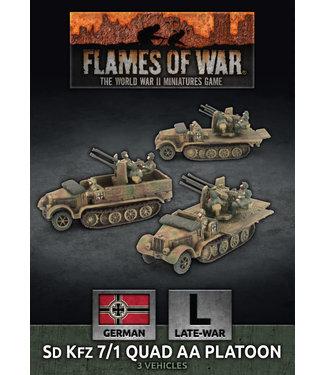 Flames of War SdKfz 7/1 Quad AA Platoon