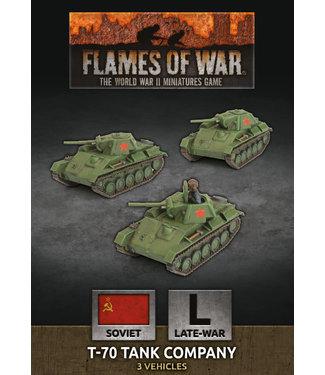 Flames of War T-70 Tank Company (Plastic)