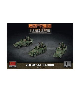 Flames of War ZSU M17 Anti-Aircraft Platoon (Plastic)