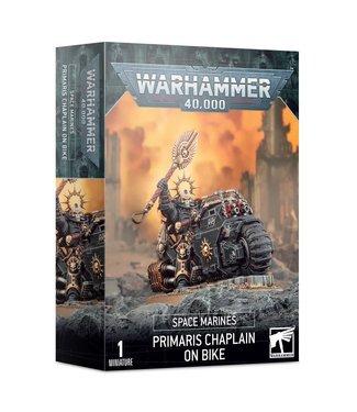 Warhammer 40.000 Primaris Chaplain on Bike
