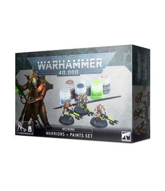 Warhammer 40.000 Necrons Warriors + Paints Set