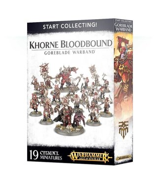 Age of Sigmar Start Collecting! Khorne Bloodbound Goreblade Warband