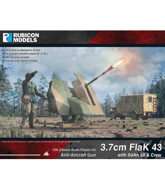 Rubicon Models 3.7cm FlaK 43 with SdAh 58 Trailer & Crew