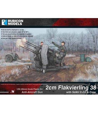 Rubicon Models 2cm Flakvierling 38 with SdAh 51/52 Trailer & Crew