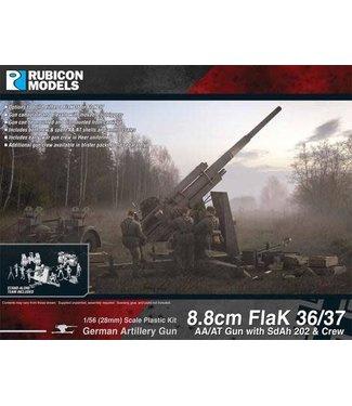 Rubicon Models 8.8cm Flak 36/37 AA/AT Gun with SdAh 202 & Crew