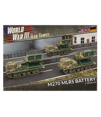 World War III Team Yankee MLRS Rocket Launcher Battery (Plastic)