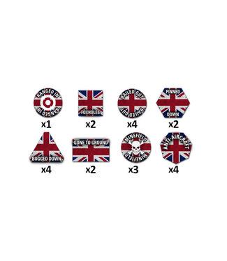 World War III Team Yankee British Token Set