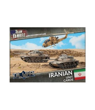 World War III Team Yankee Iranian Unit Cards