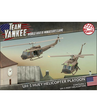 World War III Team Yankee Huey Helicopter Flight (Plastic)