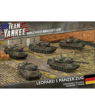 World War III Team Yankee Leopard 1 Panzer Zug (plastic)