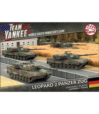 World War III Team Yankee Leopard 2 Panzer Zug (Plastic)
