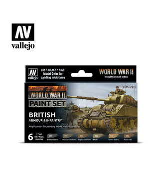 Vallejo WWII British Armour & Infantry