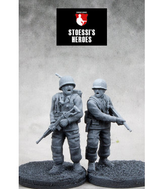 Stoessi's Heroes US Airborne T/4 George Luz Sr. & 1st Lt. Harry F. Welsh