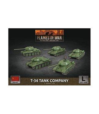 Flames of War T-34 Tank Company (Plastic)