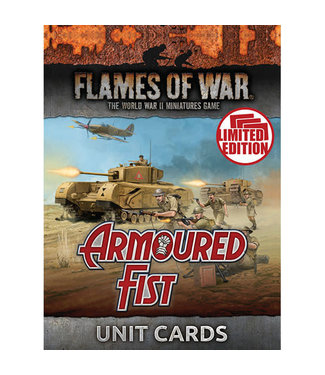 Flames of War Armoured Fist Unit Cards