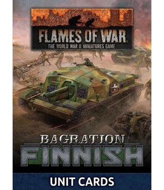 Flames of War Bagration: Finnish Unit Cards