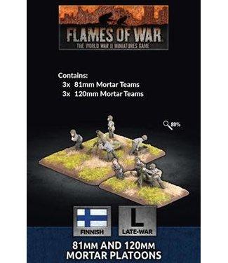 Flames of War 81mm and 120mm Mortar Platoons
