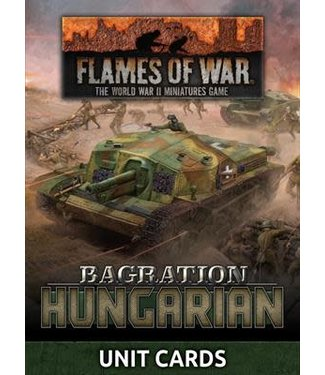 Flames of War Bagration: Hungarian Unit Cards