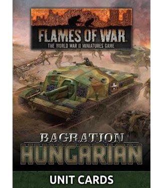 Flames of War Pre-order: Bagration: Hungarian Unit Cards