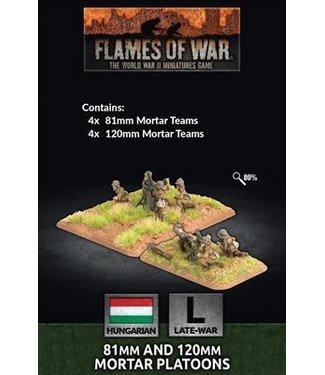 Flames of War 81mm and 120mm Mortar Platoons (HUN)