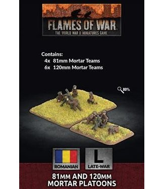 Flames of War Pre-order: 81mm and 120mm Mortar Platoons (ROM)