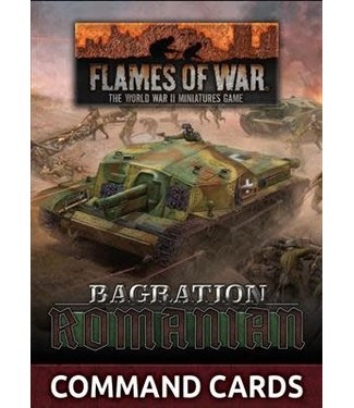 Flames of War Pre-order: Bagration: Romanian Command Cards
