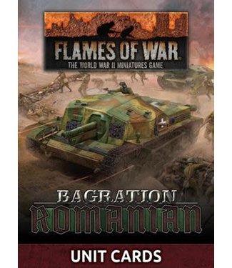 Flames of War Pre-order: Bagration: Romanian Unit Cards