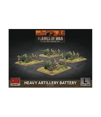 Flames of War Heavy Artillery Battery (Plastic)
