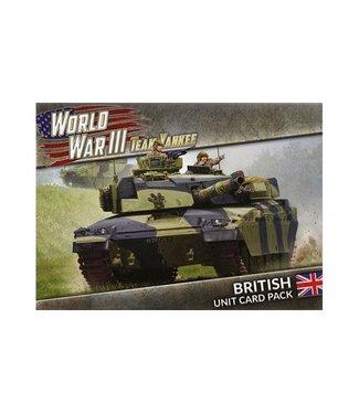 World War III Team Yankee World War III: British Unit Card Pack