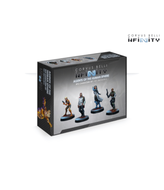 Infinity Agents of the Human Sphere. RPG Characters Set
