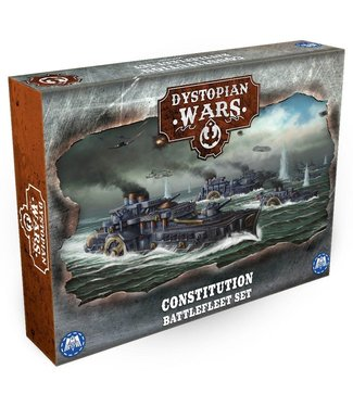Dystopian Wars Constitution Battlefleet Set