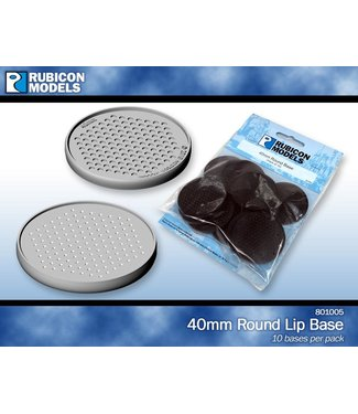 Rubicon Models 40mm Round Base (Pack of 10 Bases)