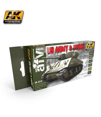 AK interactive US Army & USMC Green Colors