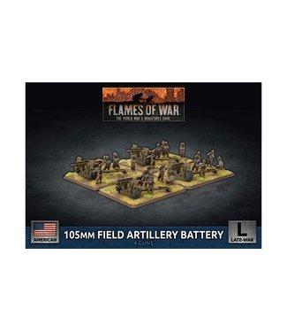 Flames of War 105mm Field Artillery Battery (Plastic)