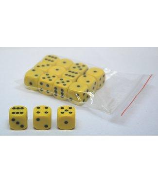 Sale Dobbelsteen 18 mm geel (10 stuks)
