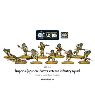 Bolt Action Imperial Japanese Army veteran infantry squad
