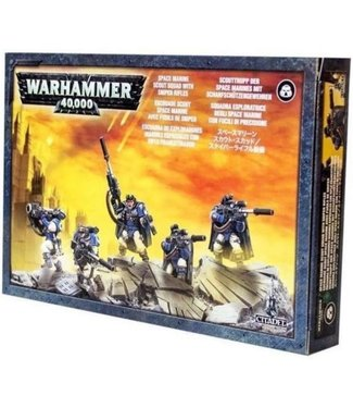 Warhammer 40.000 Space Marine Scouts with Sniper Rifles (Damage)