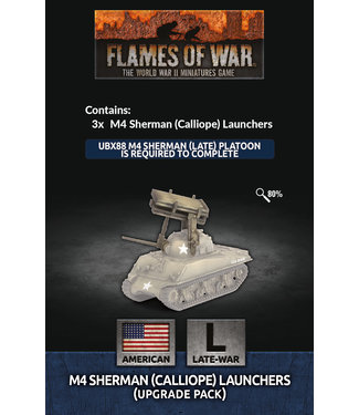 Flames of War Pre-order: M4 Sherman (Calliope) Launchers (Upgrade Pack)