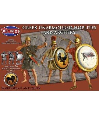 Victrix Greek Unarmoured Hoplites and archers