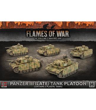 Flames of War Panzer III (Late) Tank Platoon (Plastic)