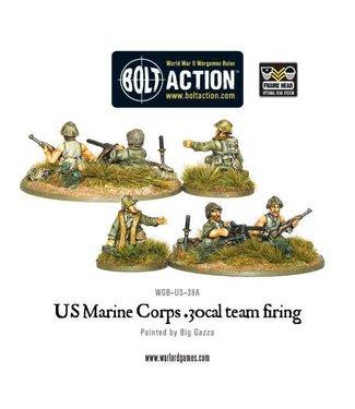 Bolt Action USMC 30 Cal MMG team firing